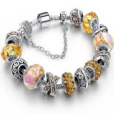 murano charm bracelet images Stylish murano glass and crystal charm bracelet styleuniverse jpg