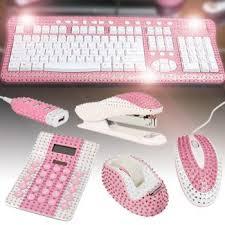 Pink Desk Accessories Set Bling My Desktop Bling Desks And Unique Gifts