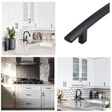 kitchen cupboard handles in black black curved kitchen cabinet handles 3in centers 5pack 1003bk