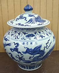Ginger Jar Vase Blue Dragon U0026 Floral Design Chinese Porcelain Ginger Jar Vase 12