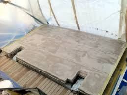 epoxy application and puts deck in teak twins refit la ciotat