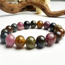 multi color stone bracelet images 11mm genuine natural tourmaline stone women stretch bracelets just jpg