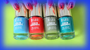 milani color statement nail polish swatches and review youtube