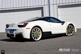 Ferrari 458 Black And White - 458 italia savini wheels