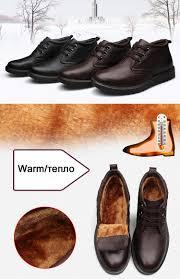 Warm Comfortable Boots Fashion Warm Genuine Leather Boots Comfortable Men Winter Boots
