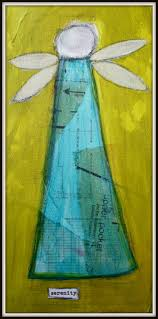 simply angelic contemporary yet primitive acrylic by jodiohl