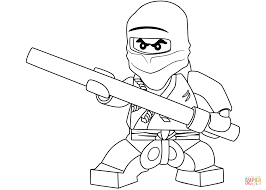 lego ninjago cole the black ninja coloring page free printable