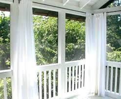 Curtains On Patio Patio Curtain Ideas Screened Porch Sheer Curtains Sliding Door