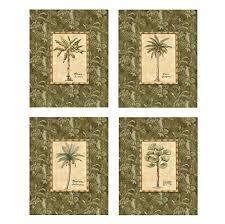palm tree bathroom decor