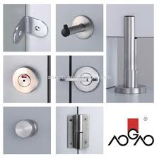 Steel Toilet Partitions Aogao 26 Series Stainless Steel Toilet Cubicle Partition Hardware