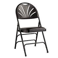 Folding Chairs Samsonite Fanback Steel U0026 Leather Memory Foam Folding Chair Case 4