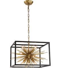 Black Chandelier Lamps Zeev Lighting Cd10172 10 Agb Mbk Burst 10 Light 20 Inch Aged Brass