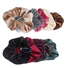 hair ties jaciya 10 pack hair elastics scrunchies velvet scrunchy