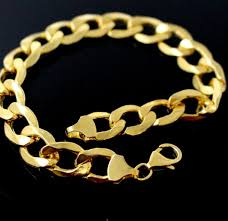 men bracelet design images 22k 22ct solid gold elegant designer curb design men bracelet b813 JPG