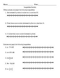 absolute value inequalities worksheets math aids com pinterest