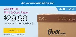copy paper sale cheap printer paper deals quill