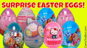 easter surprise eggs peppa pig kitty paw patrol mashem