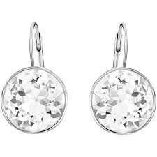pierced earring swarovski elements clear pierced