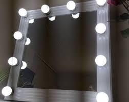 White Vanity Mirror With Lights Vanity Mirror Etsy