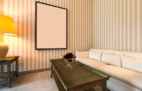likable orange color scheme wall paint ideas for small living room
