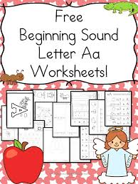 beginning sounds letter a worksheets free and fun