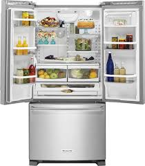 Kitchenaid Counter Depth French Door Refrigerator Stainless Steel - kitchenaid 21 9 cu ft french door counter depth refrigerator