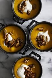 thanksgiving kabocha squash soup with candied pepitas squash