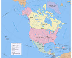 Political Map Of United States And Canada by Maps Of North America And North American Countries Political