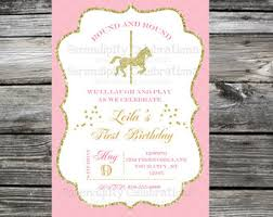 carousel baby shower carousel party invitations cimvitation