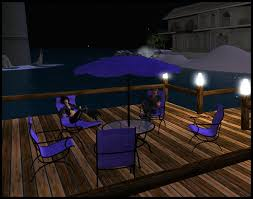 Patio Umbrella Table And Chairs Second Life Marketplace Purple Patio Umbrella Table Lounger And