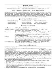 Qualifications In Resume Examples Network Administrator Resume Example
