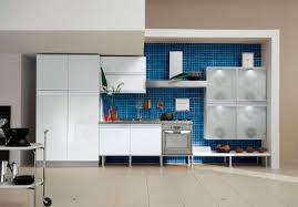 Blue Tile Kitchen Backsplash Kitchen Fascinating Modern Blue Kitchen Decoration Using Small