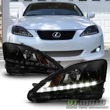 lexus 2010 black new black smoke 2006 2010 lexus is250 is350 led strip drl
