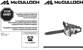 mcculloch chainsaw mcc1635a user guide manualsonline com