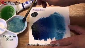 ken bromley artists u0027 watercolour prussian blue youtube