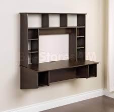 Modern Floating Desk Furniture Veneered Wooden Floating Desk With Hutch Picture