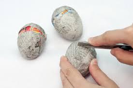 paper easter eggs diy easter paper mache eggs the evolution