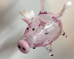 flying pig ornament etsy