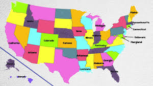 United States Abbreviations Map by 50 States States Song Fifty States Of Usa Song States On Us State