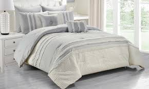 Ruffled Bed Set Kensie Chartreux Ruffled Comforter Set 8 Groupon