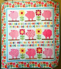 K Henblock Preis Farm Vintage Sunflower Pig Quilt 66 1 2 X 70 1 2 Quilts