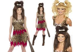 cave woman halloween costume cave cavewoman ladies fancy dress costume add blonde