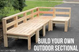 Build Outside Wooden Table by How To Build An Outdoor Sectional Knock It Off East Coast