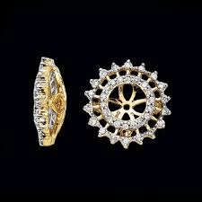diamond earring jackets flashy diamond earring jackets