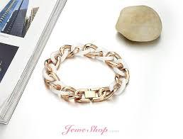 rose stainless steel bracelet images Ceramics bracelet titanium stainless steel chain rose gold plated jpg