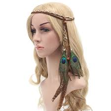 hippie hair bands new fashion women boho style festival feather headband hippie