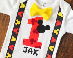 mickey mouse 1st birthday mickey mouse birthday shirt etsy