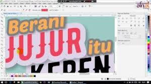 membuat poster dengan corel draw x7 coreldraw flat design tutorials 2 sianida coffee cup icon music