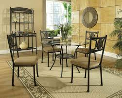 Contemporary Round Dining Room Sets Round Glass Dining Table And Wicker Chairs Chocolate With Round