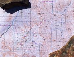 negev desert map day trekking find your way and manage your water in the